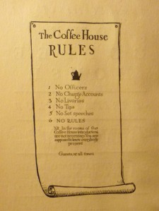 Some notes about the Coffee House, a private club : together with a list of resident and non-resident members : and including the rules of the Coffee House, rule six being that there shall be no rules. New-York Historical Society