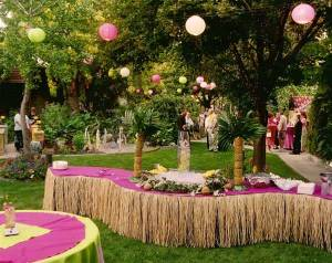 A backyard tiki wedding sounds AWESOME