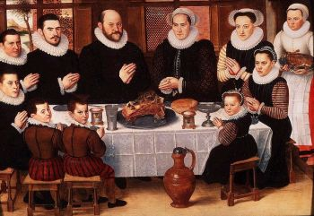 Family Saying Grace, 1585