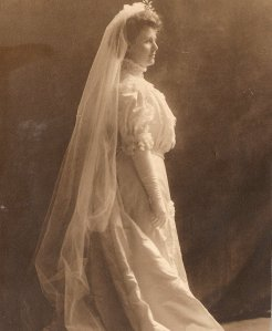 Victoria's great-grandmother at her wedding in 1906