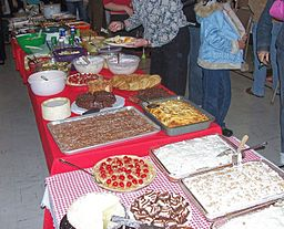Church ladies know how to potluck! [Via Wikimedia Commons
